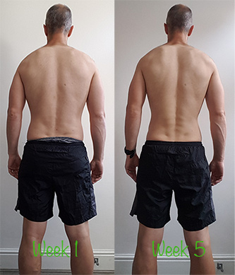 Back shot Week 1 vs Week 5