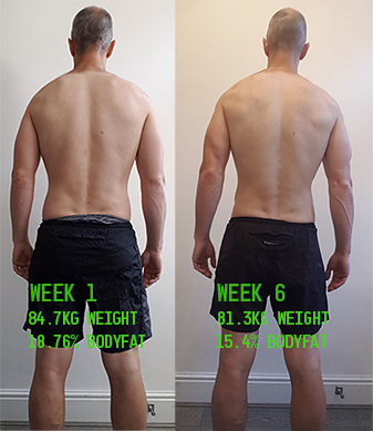 Week1 vs Week 6 Back Shots
