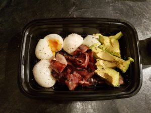 Keto Bacon Eggs & Avocado